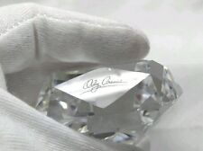 Oleg Cassini Crystal Cut Diamond Shaped Paperweight Authentic