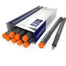 Staedtler 308 Pigmento Liner Fineliner – 0.3 mm – envase de 10 – Naranja