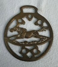 Horse Brass Galloping Racing Horse - Vintage Collectable Decorative.