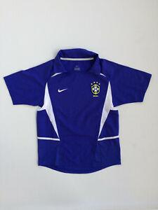 Original Nike Brazil Away 2002-04 Brasilien Camiseta Futbol Soccer Shirt M Boys