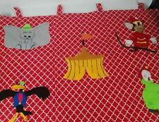 Disney Dumbo Movie Baby Infant Nursery Window Panel Hand Sewn Cotton  (