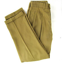Callaway Golf Apparel Nordstrom Tan Pima Cotton Pants 32W Pleated Cuffed