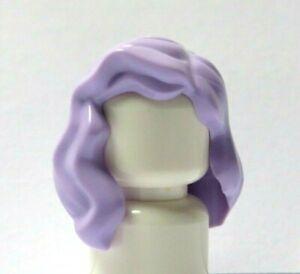 Lego 1 Hair Wig For Female Girl Minifigure Wavy Lilac