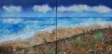 "Nuevo Original Rachel McCullock ""calma antes de la tormenta"" (díptico) Pintura Moderna"
