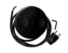 Doble Enchufe TWIST en negro para la instalación en Encimeras / Enchufe de mesa