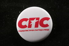 "Socialist Party of Serbia 21st Century Socialism Serbian 1"" Button Badge Pin"