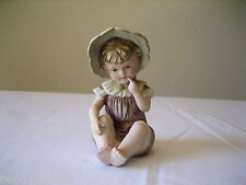 VINTAGE YOUNG GIRL EUROPEAN STYLE PORCELAIN PIANO BABIES BABY 6682 DESIGN REG