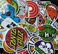 100PCS Bulk SKATEBOARD STICKERS Pack Logo Santa Cruz Old School Decal Waterproof