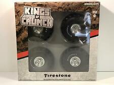 66 Inch Monster Truck Wheel and Tyre Set Firestone 1:18 Scale Greenlight