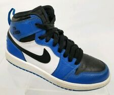Air Jordan 1 Retro Youth Basketball Shoes Blue Black Sneakers 705303-400 Sz 1.5Y