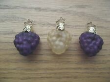 3 Vintage Old World Christmas Ornaments Mercury Blown Glass, Grape Cluster'S