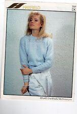 "2069 Hayfield DK KNITTING PATTERN Ladys Jumper / Sweater. Sizes 30""-40""inch."