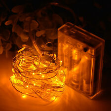 20LED 2m Battery Copper Wire String Fairy Lights Wedding Party Xmas Decor Yellow