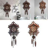 Vintage Wooden Cuckoo Bird Wall Clock for Home Kitchen Living Room Decor