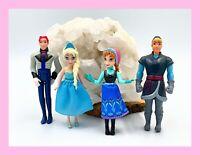 Disney's Frozen Magiclip Elsa & Anna Mini Figure Dolls Lot of 4