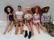 "Vintage Barbie Midge 11"" dolls Lot of 5 Ponytail Marie Osmond Bay Watch Gi Joe?"