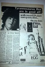 T REX (Marc Bolan) the good elf 1970 UK ARTICLE / clipping
