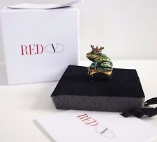 ⚠️RARE Authentic RED VALENTINO *PRINCESS FROG* Enamel STATEMENT Ring 6.5