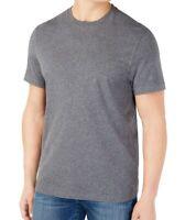 Club Room Mens T-Shirt Heather Charcoal Gray Size XL Stretch Crewneck Tee 026