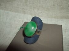 ANELLO RING GEMSTONE GIADA GREEN JADE CABOCHON ARGENTO 925 MISURA 16,5 CHINA