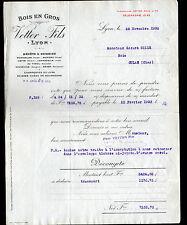 """LYON (69) SCIERIE / BOIS en gros """"VETTER Fils"""" en 1932"""