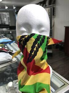 New Cannabis Bandana Face Mask Peace And Love Marijuana Leaf USA Seller