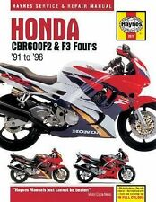 1991-1998 Haynes Honda CBR600F2 & F3 Fours Hardback Repair Manual