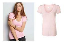 Polycotton Hip Length Regular Size Basic T-Shirts for Women
