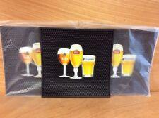 "Stella Artois Leffe Hoegaarden Best of Belgium Bar Mats (3) - 12""x12"" Free Shipn"