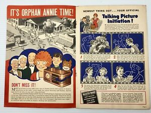Vintage 1939 Radio Orphan Annie's Secret Society Booklet and Order Page