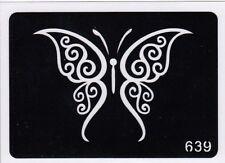 GT639 Body Art Glitter Tattoo Stencil Butterfly Butterflies