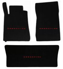 NEW! Black Front Floor Mats 2004-08 Chrysler Crossfire red embroidered Logo Set