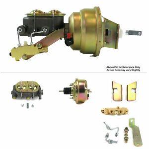 "1960-62 Chevy Truck Firewall Mount Power 7"" Single Brake Booster Kit Disc/Drum"