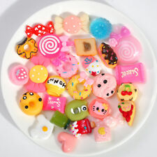 Random Style 10 Pcs Resin Cake Mix Foods Mobile Phone Case Decoration DIY