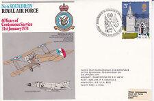 GB 1974 RAF 60th Anniv of 6 Squadron Formation Commemorative Cover