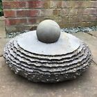 Kugel Rotating Spinning Slate Ball Sphere And Base For A Water Feature.