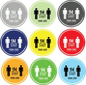 Social Distancing Floor Sticker/Decals - Anti Slip, Custom Logo, 1m-3ft distance