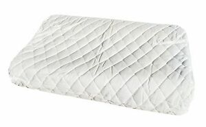 Contoured Latex Pillow + Featured Washable Pillow Protector 60 x 40 x 12/10 cm