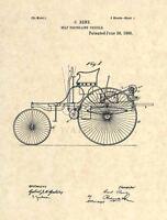 Mercedes Benz FIRST Official US Patent Art Print - Vintage Antique Mechanic 241