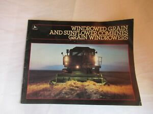 1985 John Deere 6601 7721 6620 7720 8820 4425 titan sunflower combine brochure