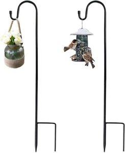 2 Pcs Metallstab Garten Hirtenstab Laternenhalter Stecker Schäferstock mit Haken