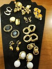 Vintage lot of Clipon and Pierced Earrings