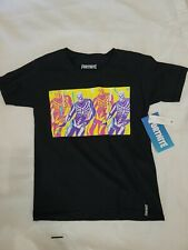 Fortnite Boys Exclusive Skully Troop Graphic Black T-Shirt Size Medium 8 NWT New
