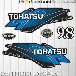 TOHATSU  9.8 hp FOUR Stroke outboard engine decal sticker set kit reproduction