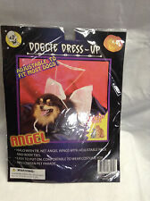 NEW Doggie Dress Up Dog Costume Angel adj to fit most halo tie net angel wings