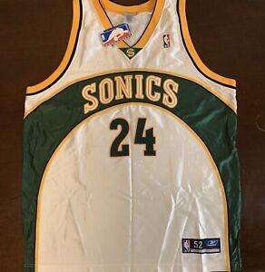 Rare Vintage Reebok NBA Seattle SuperSonics Desmond Mason Basketball Jersey