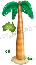 6 x Hawaiian Luau Party Inflatable Blow Up Palm Tree Beach Pool Decoration 86cm