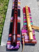 2-NATIVE AMERICAN FLUTES KEY IN G QUENA & NORTH AMERICAN W-Bag  LOOK VIDEO NEW!!