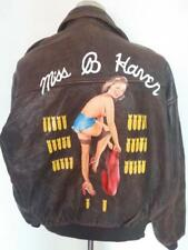 Vtg AVIREX A-2 'Miss B Haven' Flight Leather Jacket Size Medium/Large