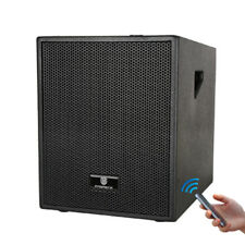 12-Inch 3000 Watt 4-Channel Stereo DJ/Powered Subwoofer with Bluetooth/USB/line